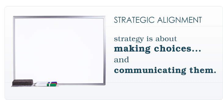 STRATEGIC ALIGNMENT: strategy is about making choices... and communicating them.